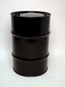 30 Gallon Tight-Head UN-Rated Steel Drum - Black - Epoxy Phenolic Interior