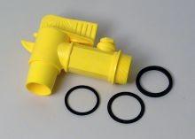 2 Inch Industrial Polyethylene Faucet - Non Adjustable Nozzle