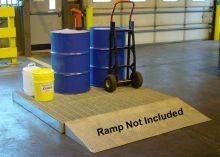 Low-Profile Modular Steel Work Deck - 74 Gallon Sump Capacity