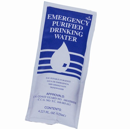 Emergency Drinking Water, 4.2 oz. Package