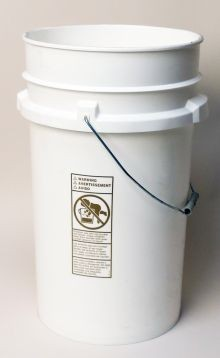 7 Gallon White - Open-Head Tapered Plastic Pail