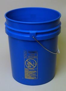 5 Gallon Open-Head Tapered Plastic Pail