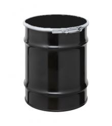 10 Gallon Steel Drum - UN-Rated Black With Quick-Lever Closure