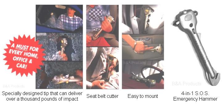 4-in-1 S.O.S. Emergency Hammer