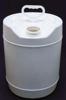5 Gallon Round Closed-Head Plastic Pail - White