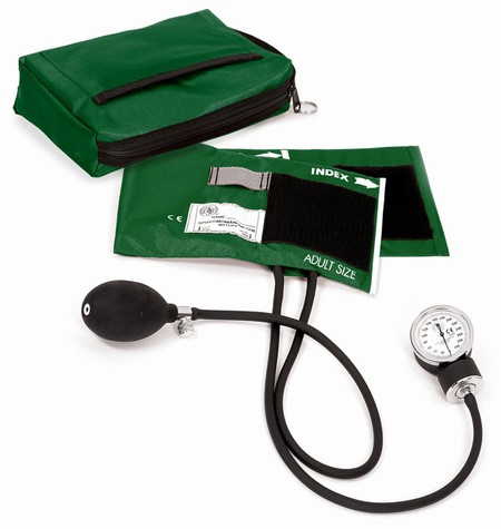 Premium Aneroid Sphygmomanometer with Carry Case,Hunter Green