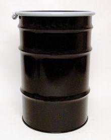 55 Gallon Open-Head UN-Rated Steel Drum - Black - Epoxy Phenolic Interior