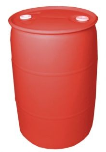 55 Gallon Closed-Head Plastic Drum - Red