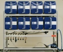 IFH Oil Storage and Dispensing System With Eight - 65 Gallon Containers - Outboard Console