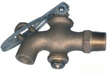 Solid Brass Drum Faucet - 3/4 Inch NPT Inlet - Plain No Thread Outlet