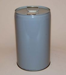 7 Gallon Closed-Head Steel Pail - Gray