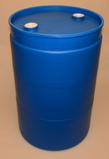 55 Gallon Closed-Head Blue Plastic Drum (THP55)