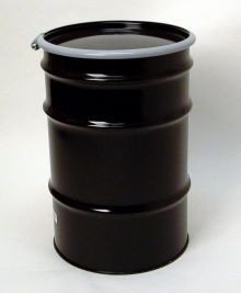 30 Gallon Open-Head UN-Rated Steel Drum - Black - Epoxy Phenolic Interior