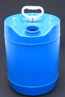 5 Gallon Round Closed-Head Plastic Pail - Blue