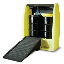 Enpac Roll Top 2 Drum Outdoor Spill Containment Pallet With Drain
