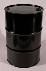 55 Gallon Tight Head UN Rated Steel Drum - Black - Epoxy Phenolic Interior