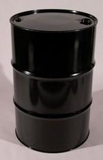 55 Gallon Tight Head UN Rated Steel Drum - Black - Epoxy Phenolic Interior