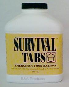 Survival Tabs Emergency Food Rations