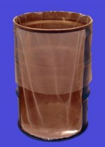 30 Gallon Round Bottom Flexible Liners - Fold-Back - 4 mil