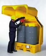 Secure Secondary Containment Inside or Outside - 2 Drum With Drain