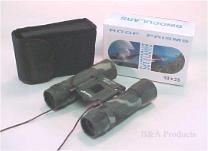 Binoculars, roof prism folding 10 x 25