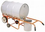 Drainer Drum Truck - Steel Wheels - With Kickstand