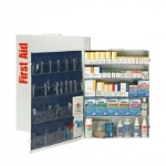 200 Person 5 Shelf First Aid Metal Cabinet, ANSI B+, Type I & II With Medication