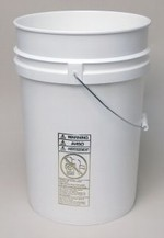 6 Gallon Open-Head Tapered Plastic Pail