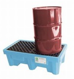 UltraTech Fluorinated Poly Spill Pallet - 2 Drum