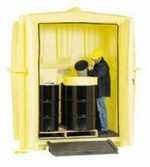 Enpac Job Hut Outdoor Storage Building Extends Drum Storage