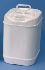 5 Gallon Rectangular Closed-Head Plastic Pails - White