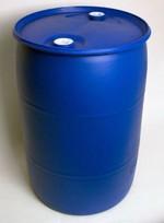 55 Gallon Closed-Head Plastic Drum - Blue