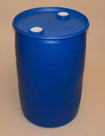30 Gallon Closed-Head Plastic Drum - Blue