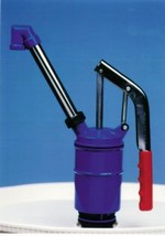 High Viscosity Lever-Action Drum Pump - High Angle Discharge Spout