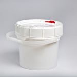 2.5 Gallon New Generation Pail with White,Red or blue Lifelatch Lid