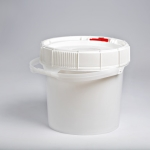 3.5 Gallon White New Generation Pail with White,Red or blue Lifelatch Lid