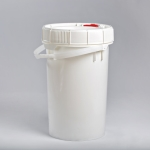 6.5 Gallon White New Generation Pail with White,Red or blue Lifelatch Lid