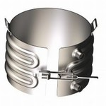 Platecoil Heater or Cooler With Hoses - Painted Carbon Steel - 5 Gallon