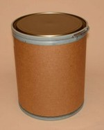 15 Gallon Greif Lok-Rim® Fiber Drum - Metal Cover