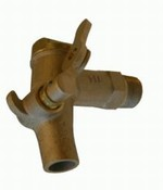 Self-Closing Brass Drum Faucet - 3/4 Inch NPT Inlet With Buna-N Seal