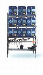 IFH Oil Storage and Dispensing System With Nine - 65 Gallon Containers - Outboard Console