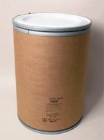 30 Gallon Greif Lok-Rim® Fiber Drum - Plastic Cover