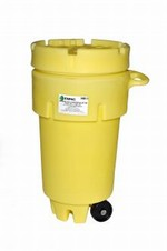 50 Gallon Wheeled Plastic Salvage Drum