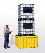 All Poly IBC Spill Pallet With Drain