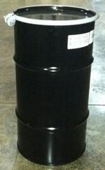 16 Gallon Open-Head UN-Rated Steel Drum - Black - Rust Inhibitor Interior