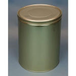 30 lb Industrial Metal Tin with Slip Lid
