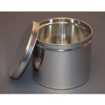 5 1/4 lb Industrial Metal Tin with Slip Cover