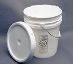 5 Gallon Open-Head Tapered Plastic Pail with Tear Tab Lid