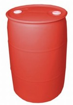 30 Gallon Closed-Head Plastic Drum - Red