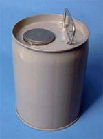 1 Gallon Closed-Head Steel Pail - Gray